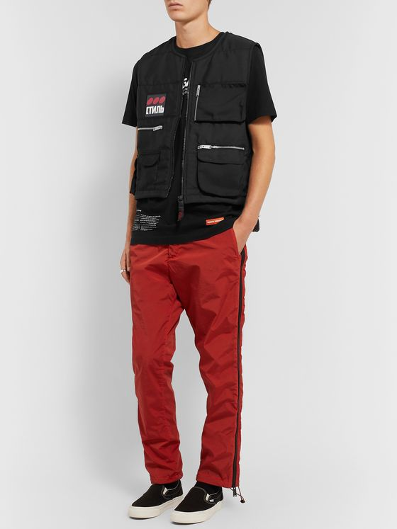 Heron Preston Slim-Fit Logo-Appliquéd Quilted Shell Gilet