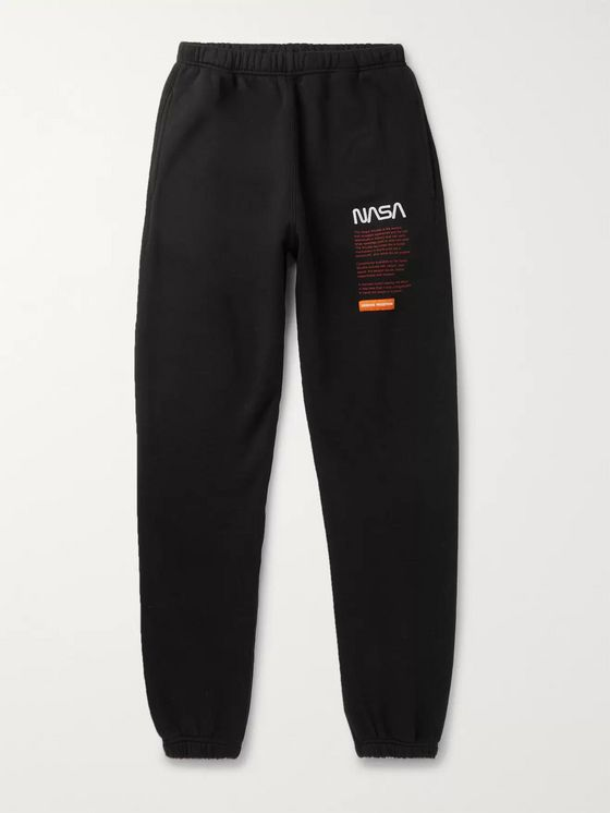 Heron Preston + NASA Printed Fleece-Back Cotton-Jersey Sweatpants