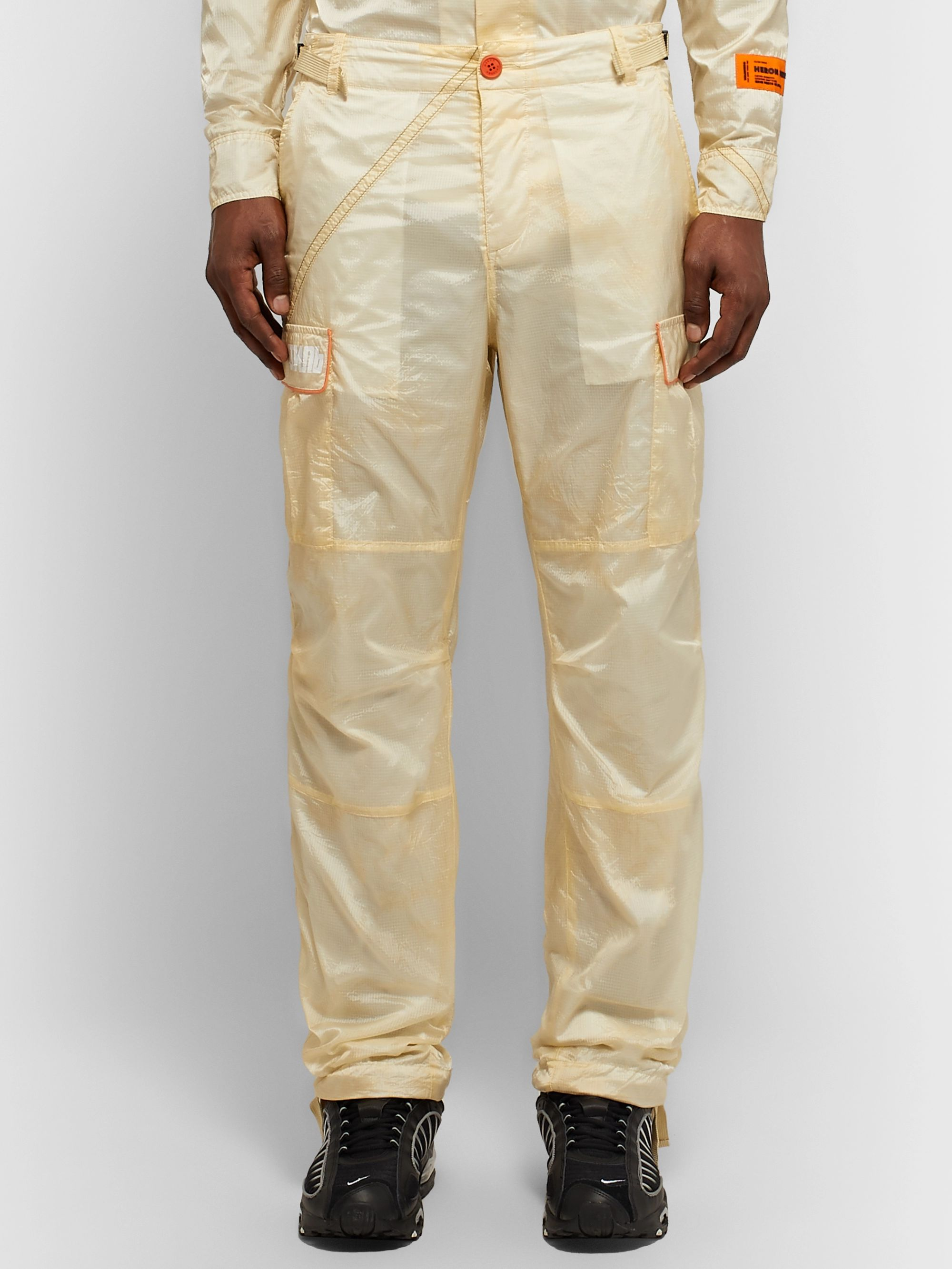 Heron Preston Parachute Piped Ripstop Cargo Trousers