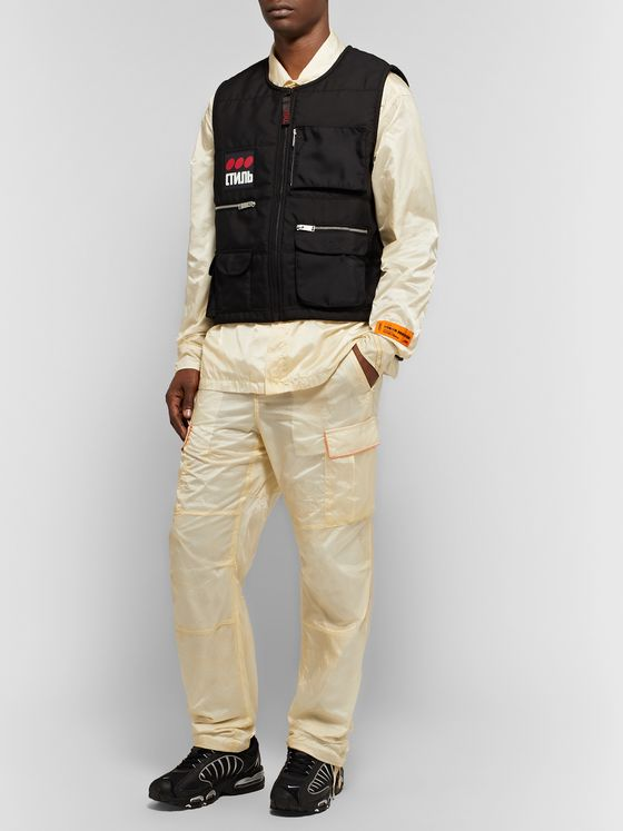 Heron Preston Parachute Piped Ripstop Shirt