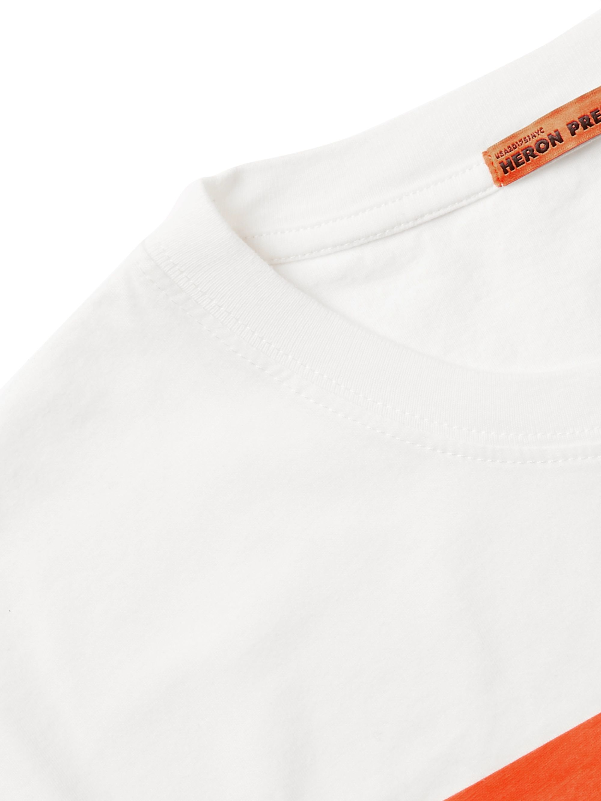 Heron Preston Logo-Appliquéd Printed Cotton-Jersey T-Shirt