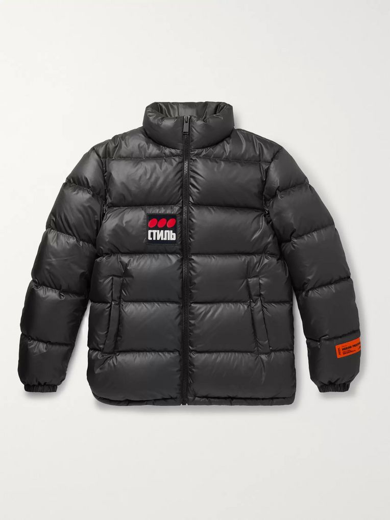 Heron Preston Logo-Appliquéd Quilted Shell Down Jacket