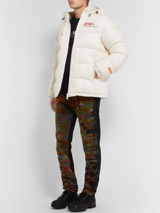 Heron Preston + NASA Slim-Fit Printed Quilted Nylon-Ripstop Hooded Down Jacket