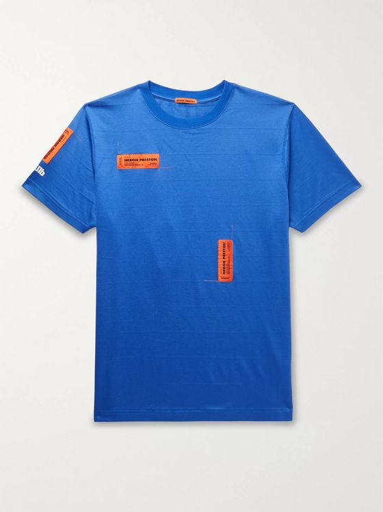 Heron Preston Logo-Appliquéd Cotton-Blend Jersey T-Shirt