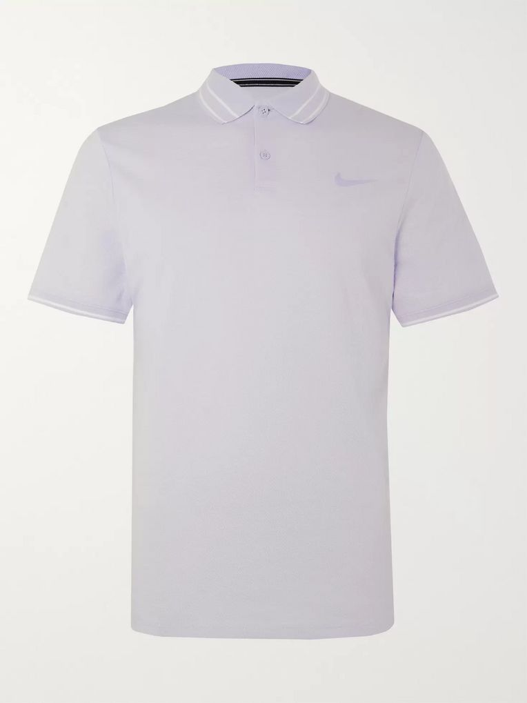 Nike Tennis NikeCourt Advantage Cotton-Blend Dri-FIT Tennis Polo Shirt