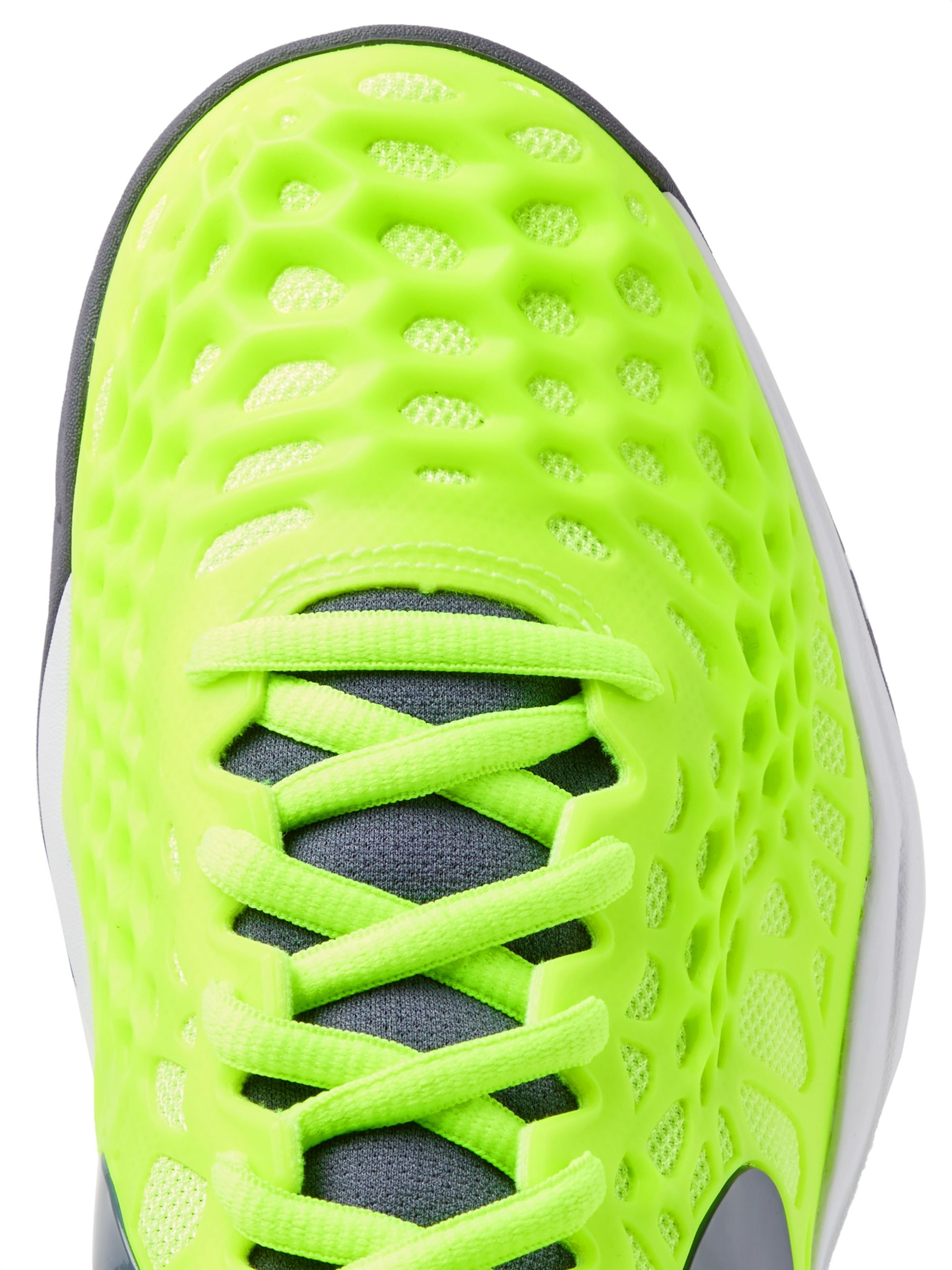Nike Tennis Air Zoom Cage 3 HC Rubber And Mesh Tennis Sneakers