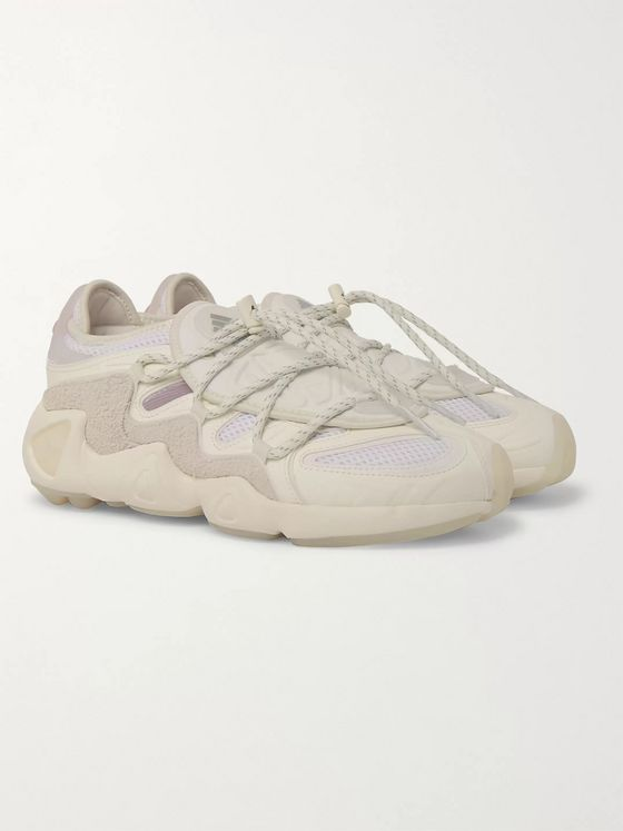 adidas Consortium + 032c Salvation Suede, Leather and Mesh Sneakers