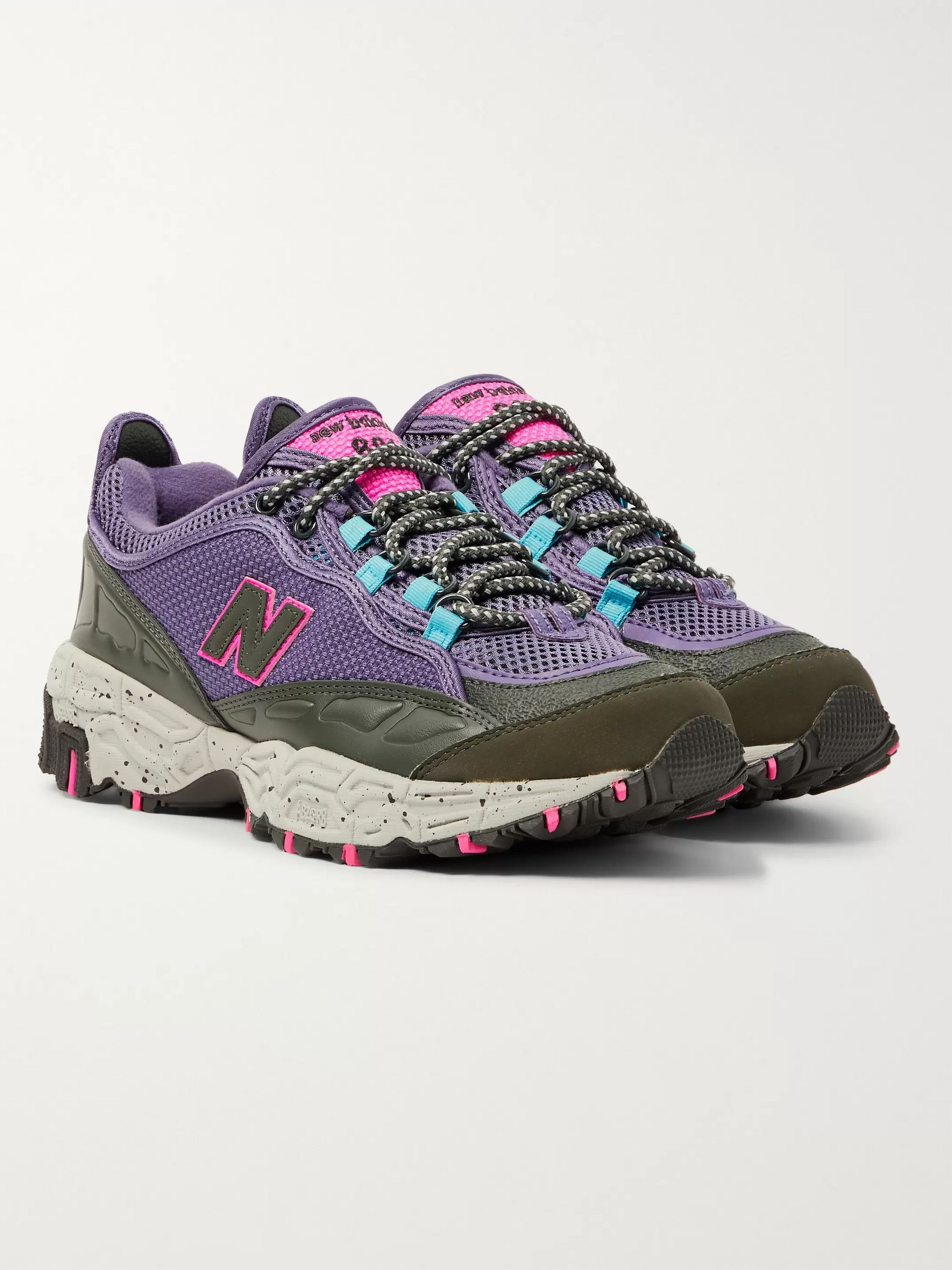 801 Leather Trimmed Canvas And Mesh Sneakers by New Balance