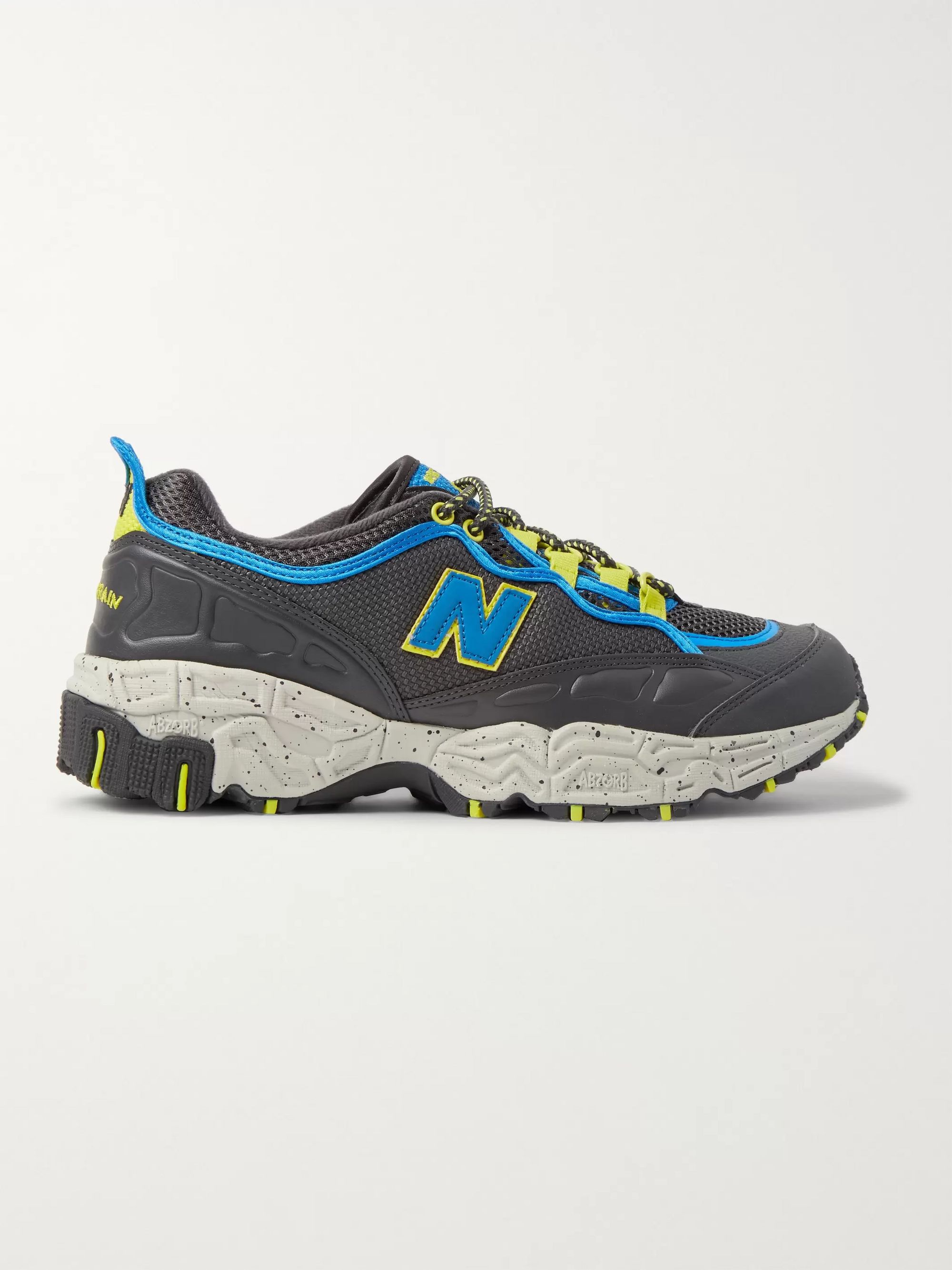 New Balance 801 V1 Leather-Trimmed Canvas and Mesh Sneakers