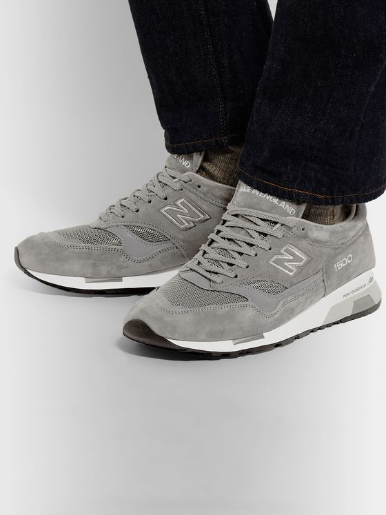 New Balance M1500 Suede and Mesh Sneakers