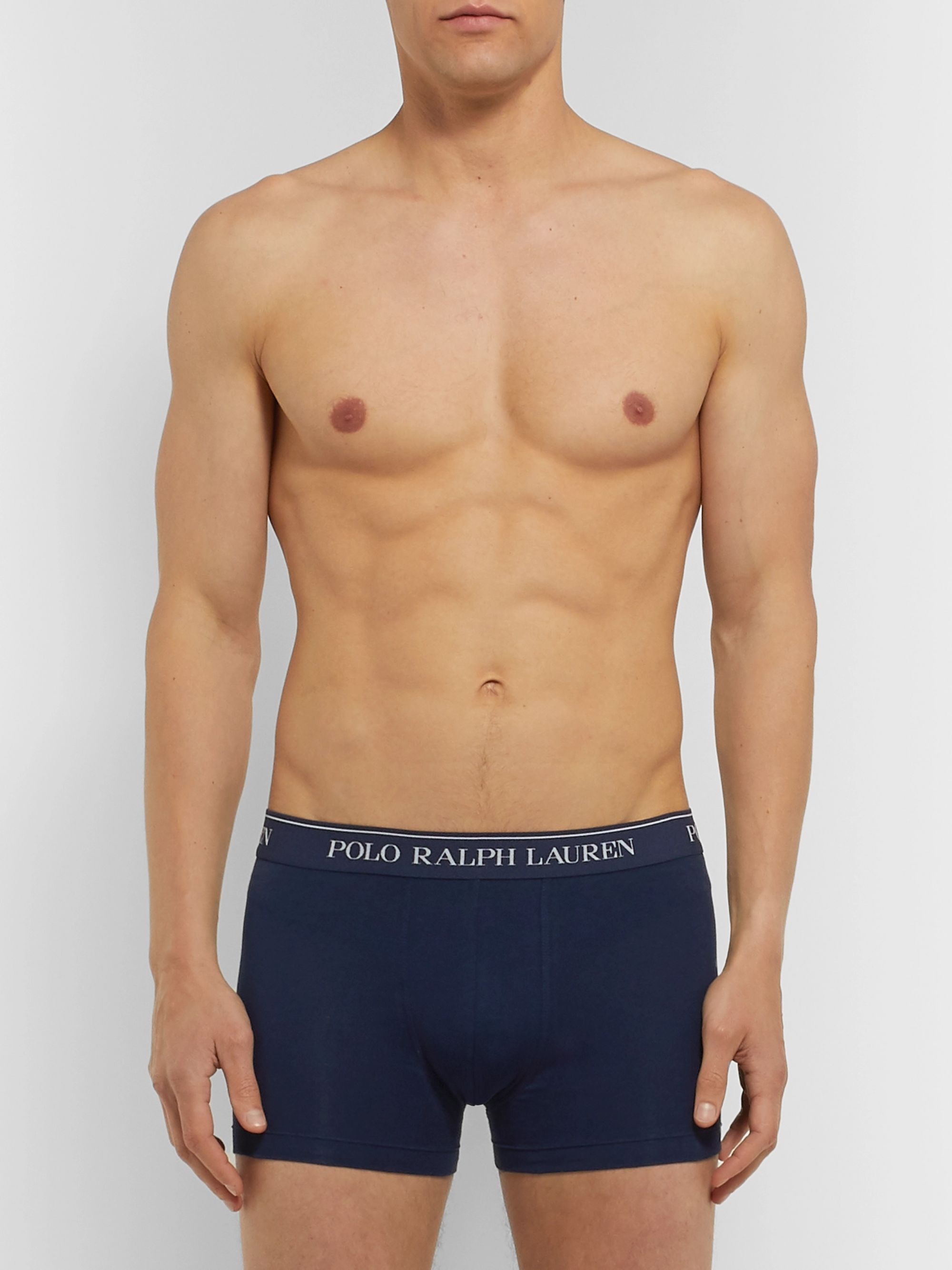 Polo Ralph Lauren Three Pack Stretch-Cotton Boxer Briefs