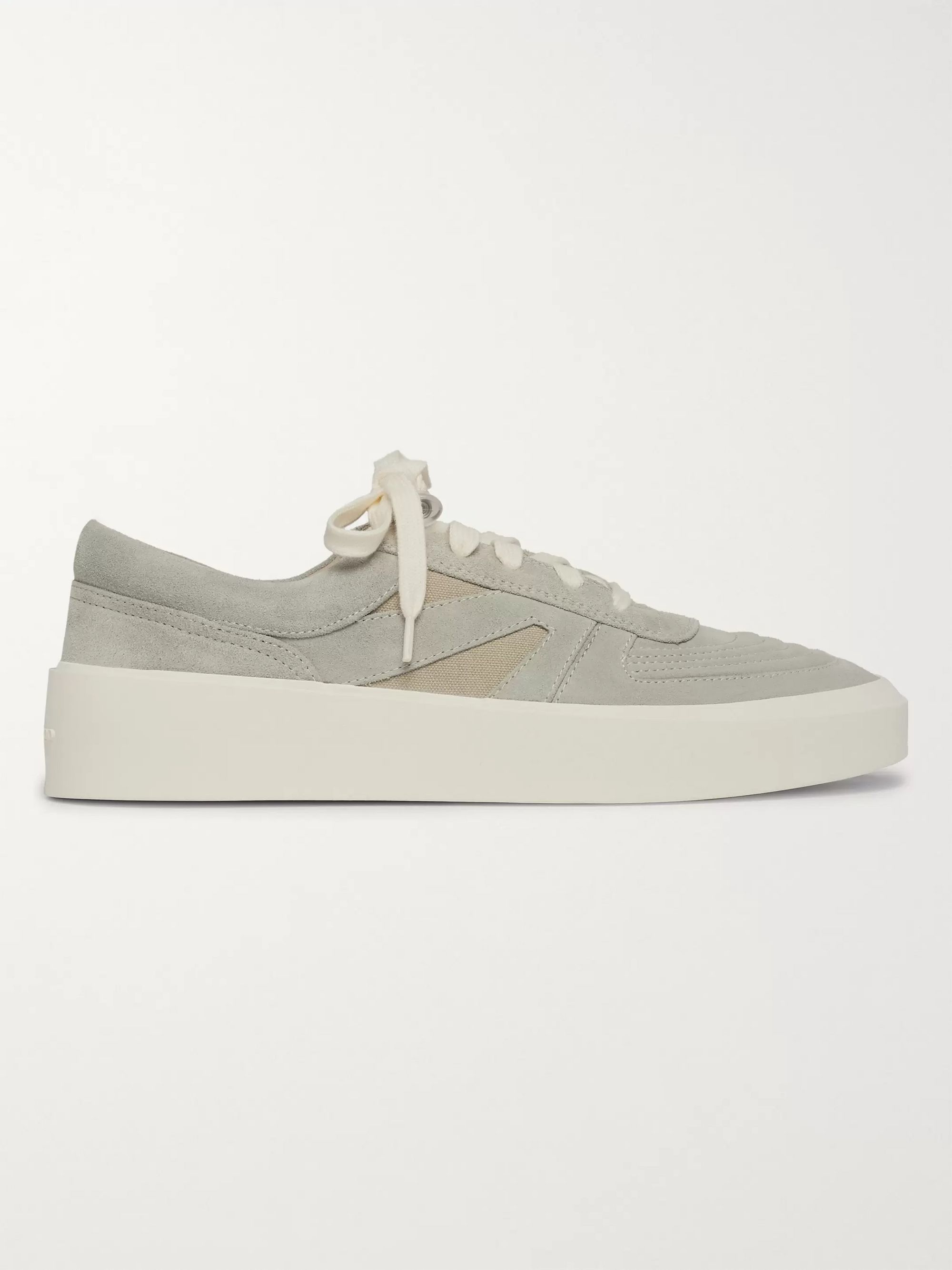 Fear of God Mesh-Trimmed Suede Sneakers