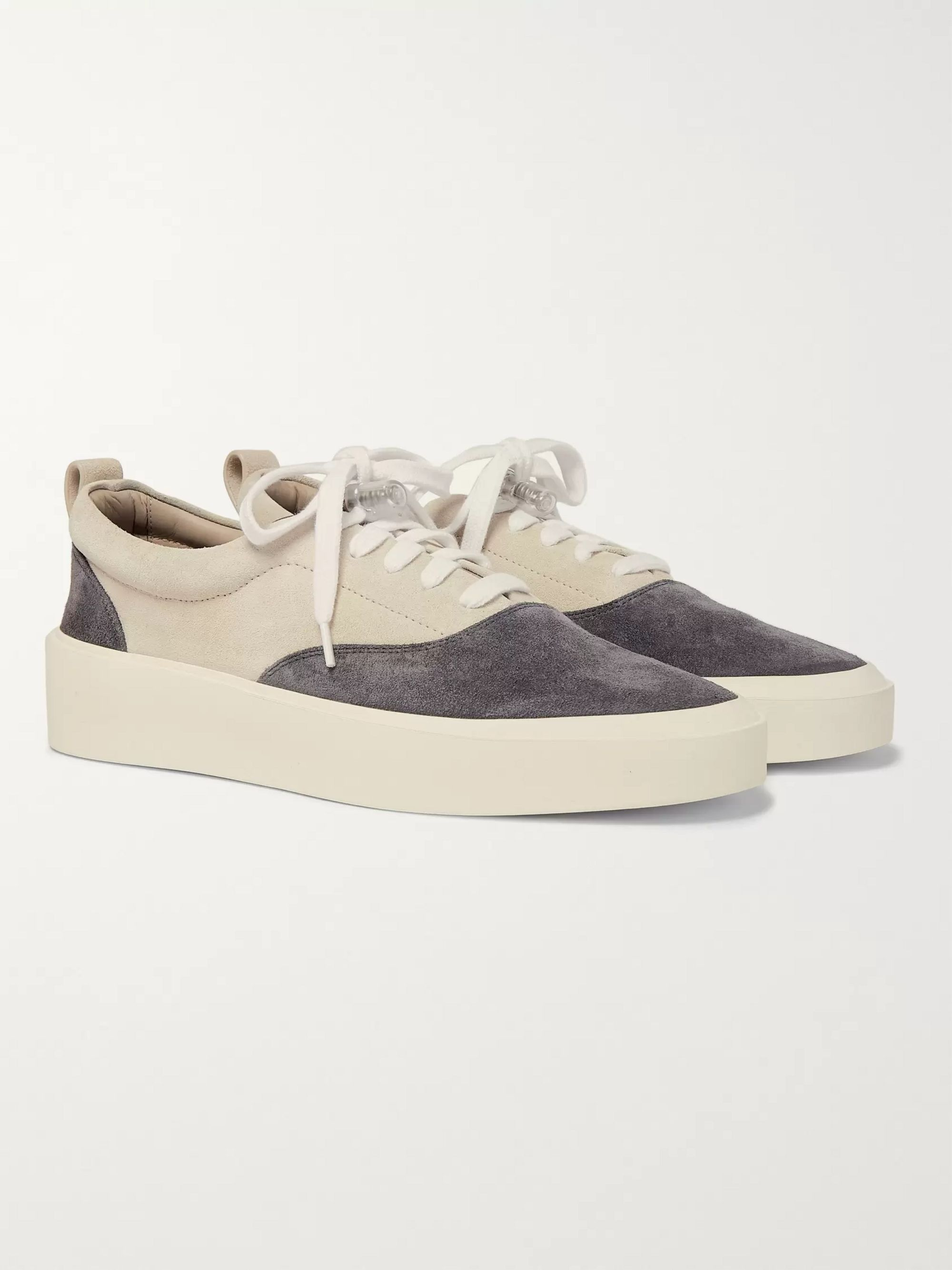 101 Leather Trimmed Suede Sneakers