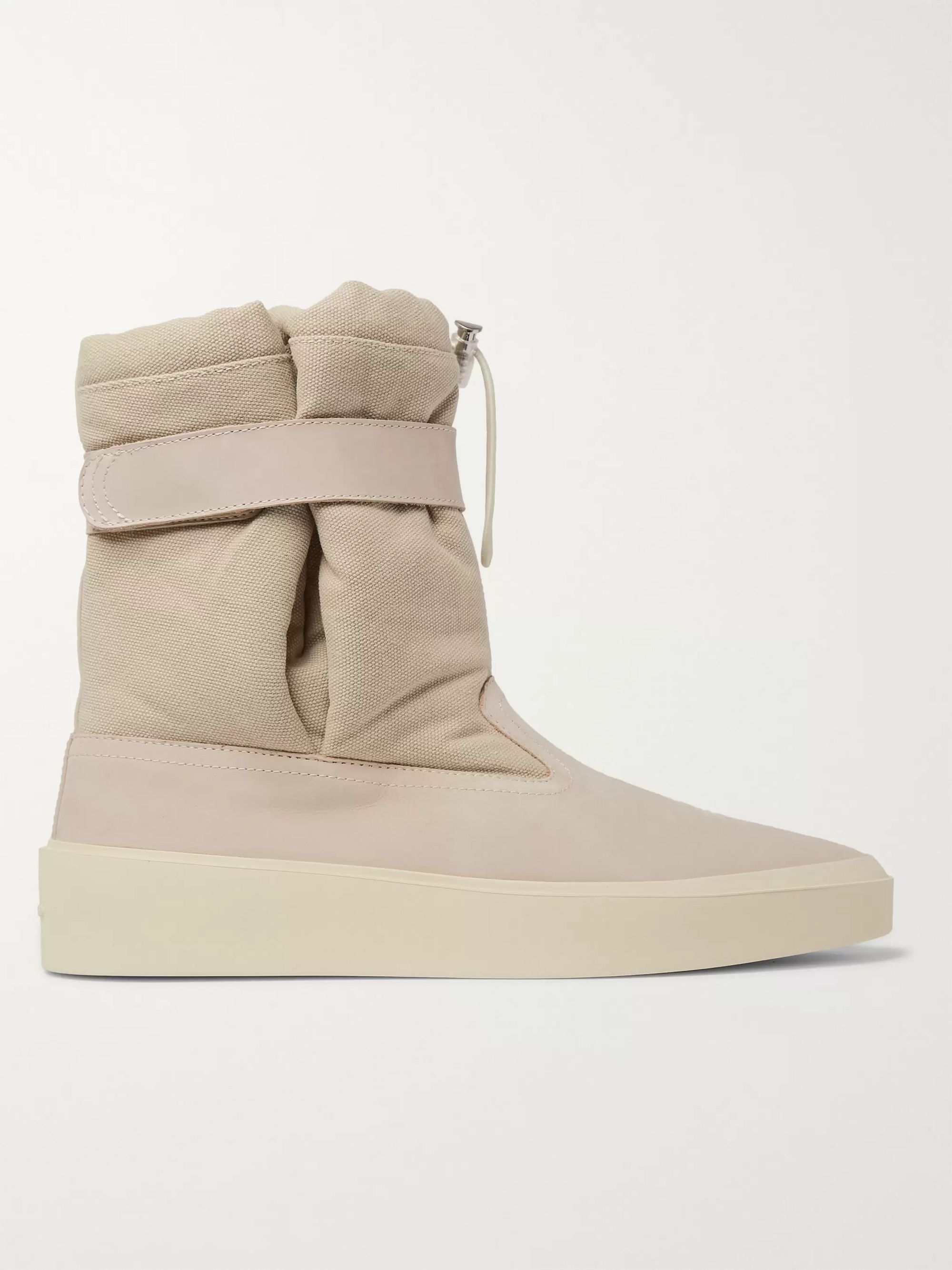 Fear of God Suede and Canvas High-Top Sneakers