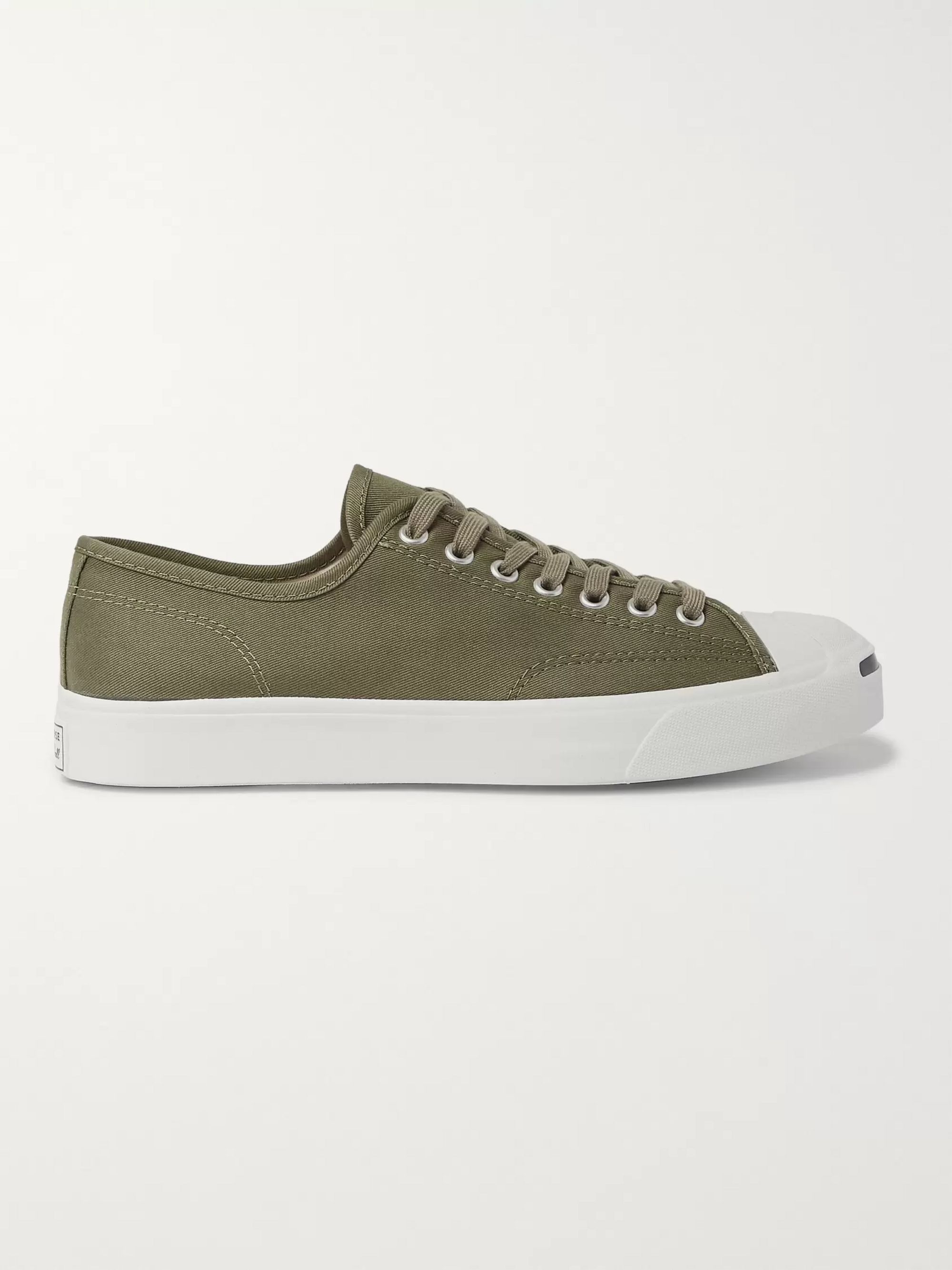 Converse Jack Purcell OX Rubber-Trimmed Canvas Sneakers