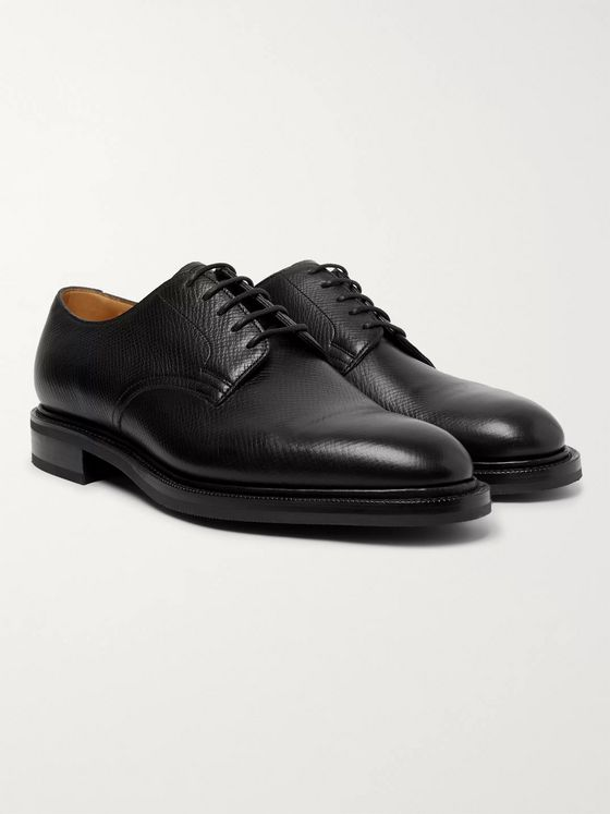 Edward Green Windermere Cross-Grain Leather Derby Shoes