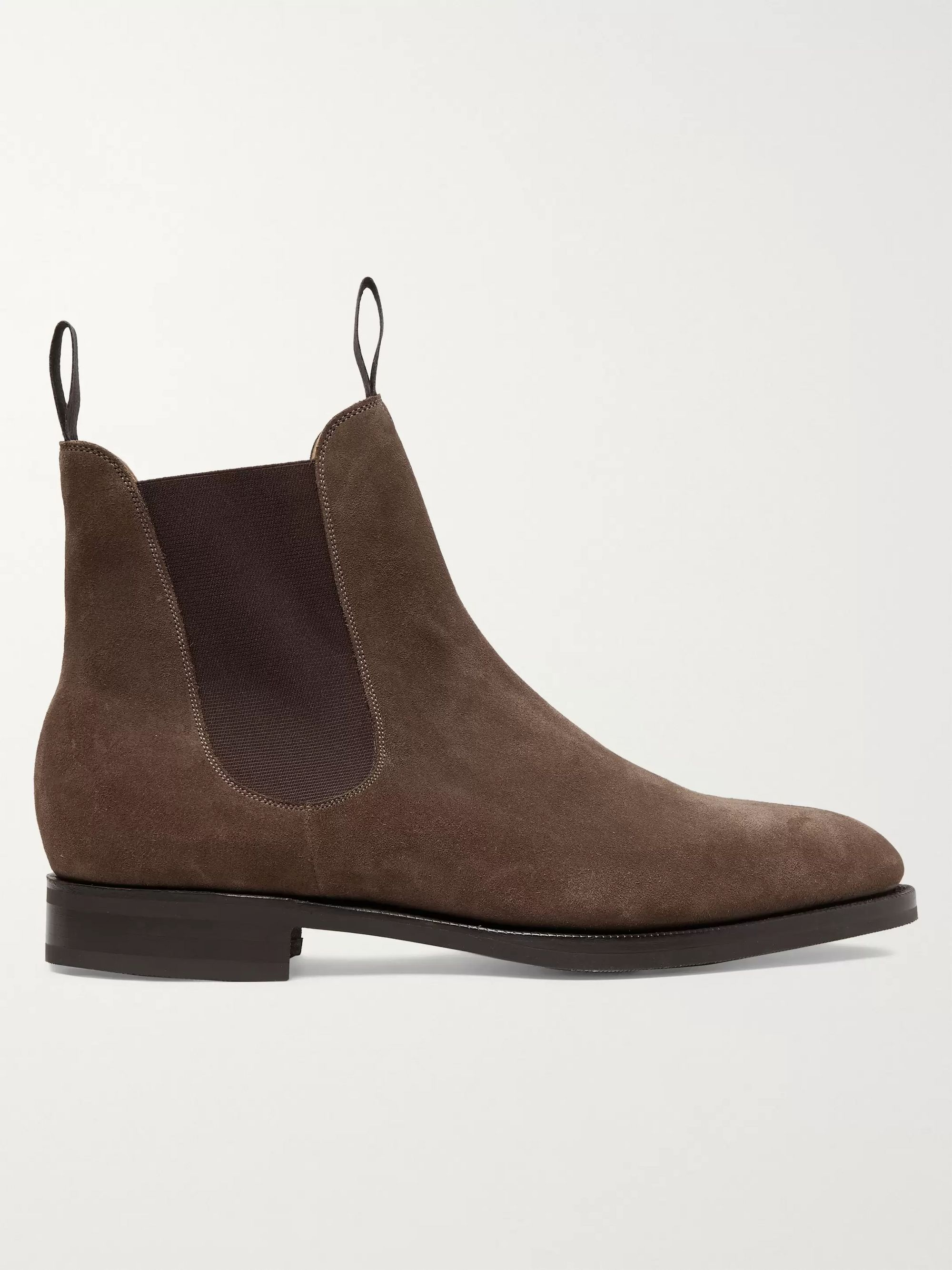 Edward Green Newmarket Textured-Leather Chelsea Boots