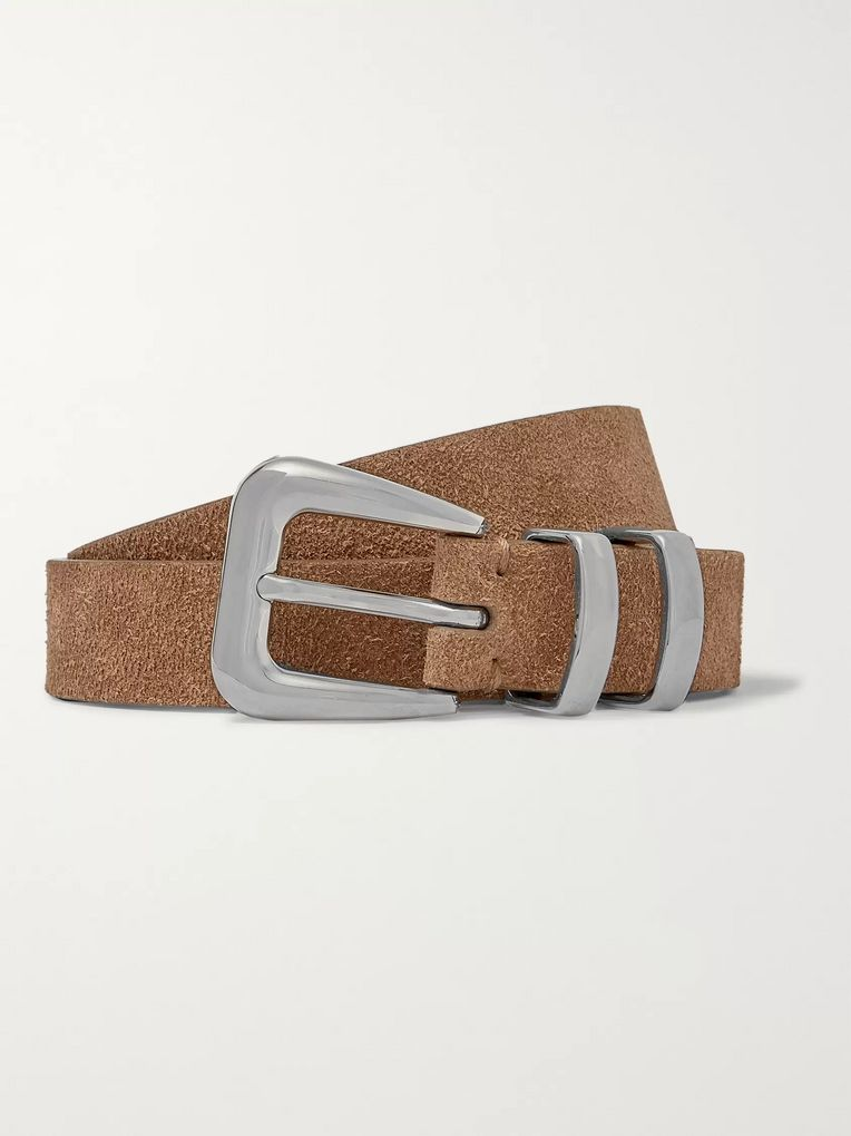 Brunello Cucinelli Light-Brown Suede Belt
