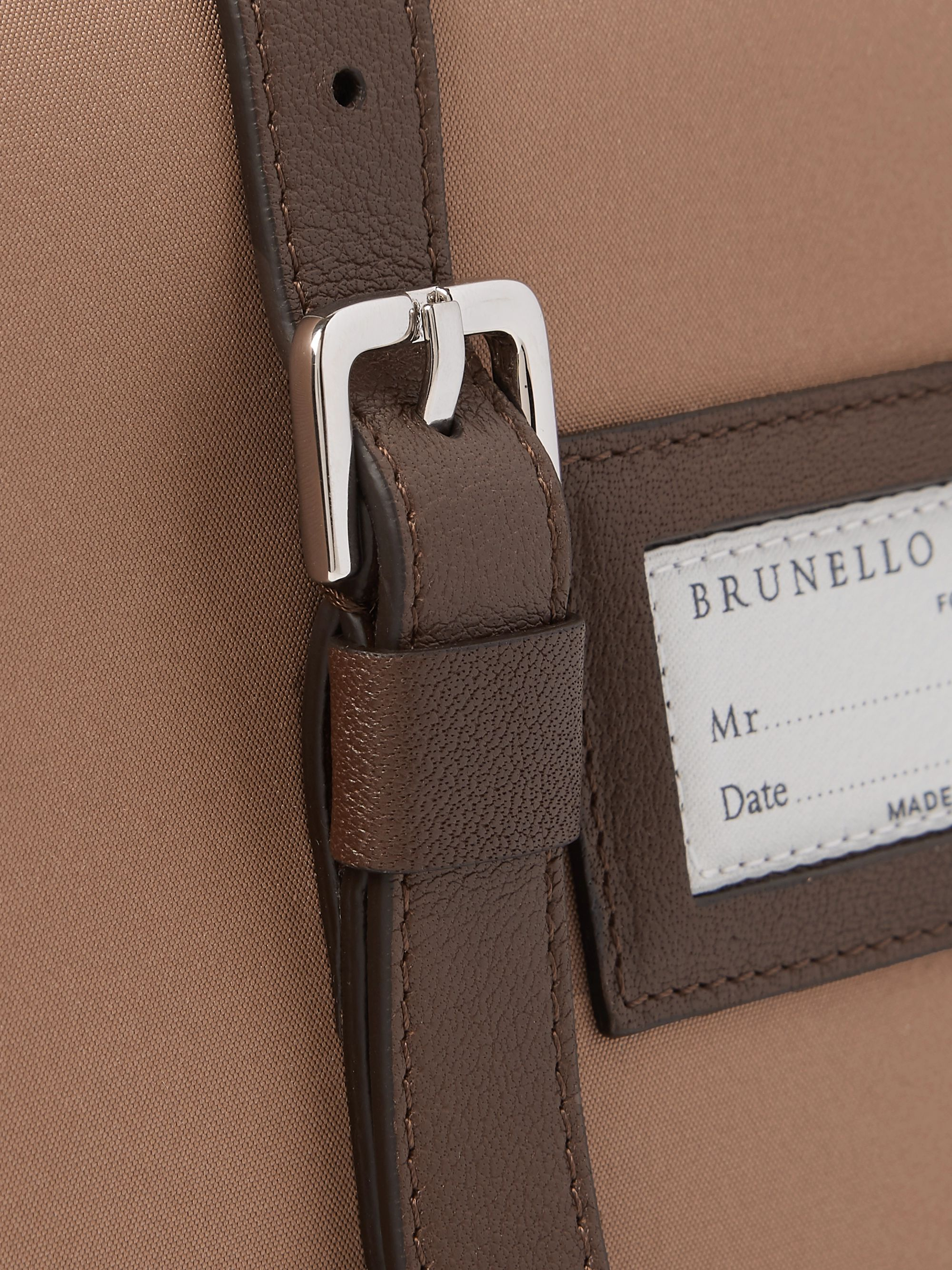 Brunello Cucinelli Leather Hanging Wash Bag