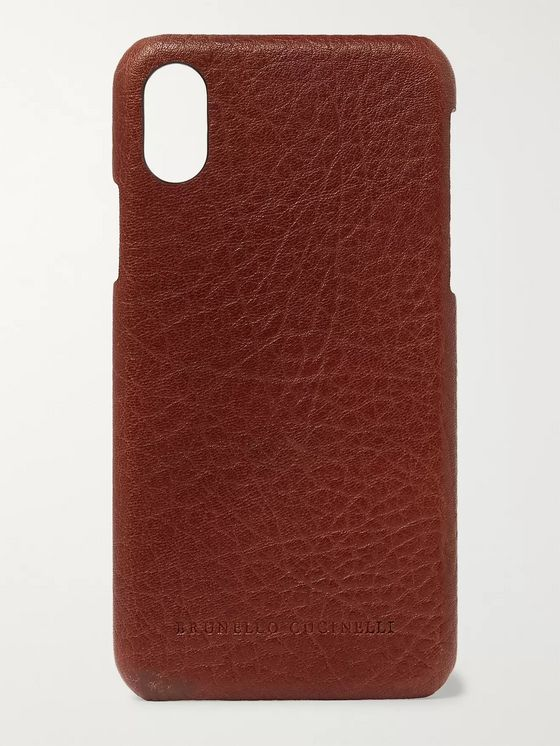 Brunello Cucinelli Full-Grain Leather iPhone X Case