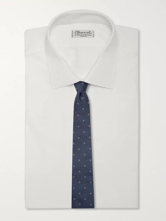 Brunello Cucinelli 6.5cm Embroidered Silk-Twill Tie