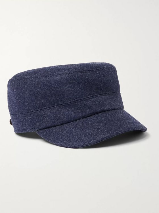 Brunello Cucinelli Virgin Wool Baker Boy Cap