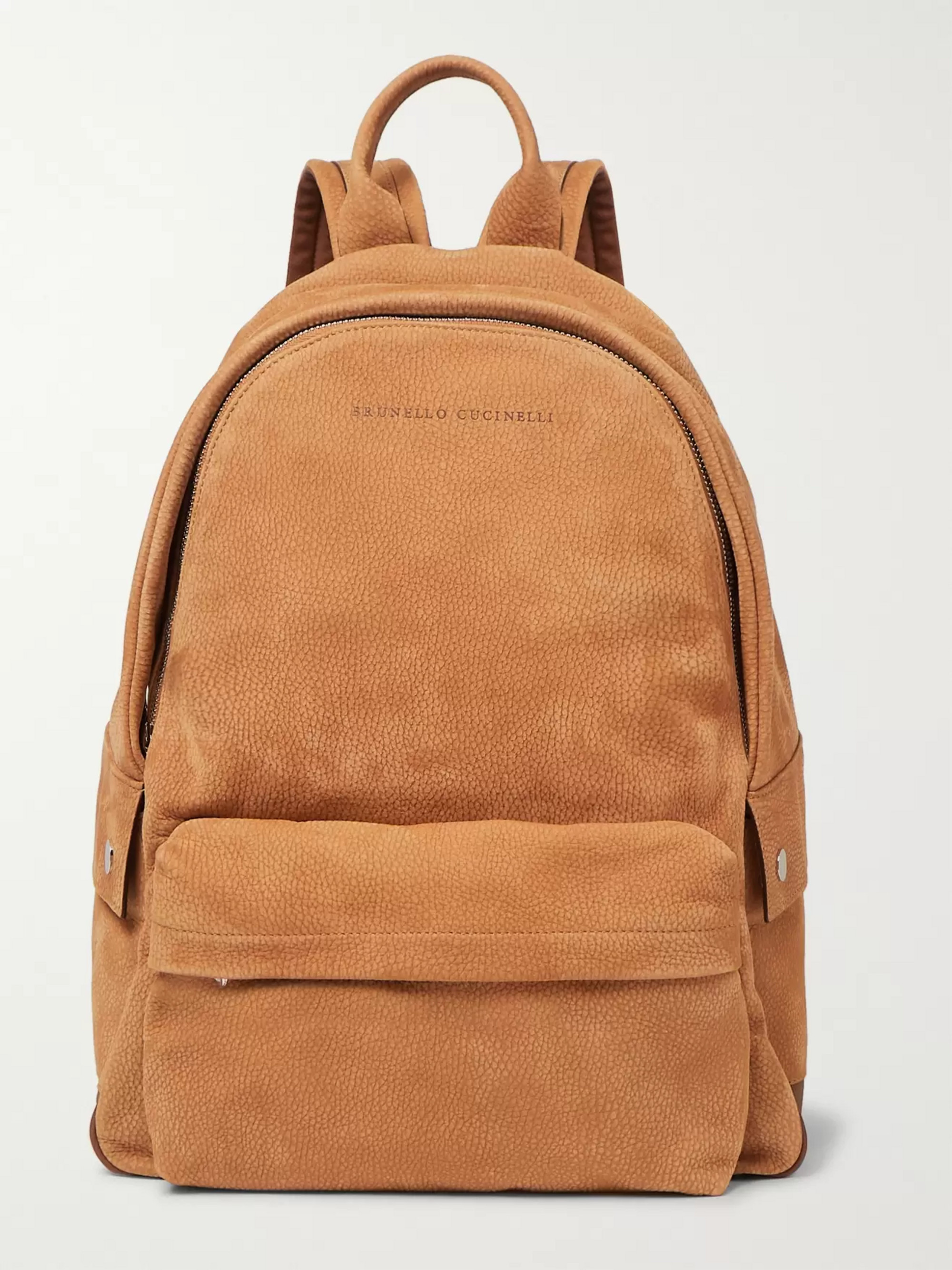 Brunello Cucinelli Full-Grain Nubuck Backpack