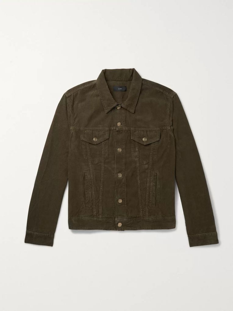 Alanui Slim-Fit Intarsia Cashmere-Panelled Cotton-Corduroy Jacket