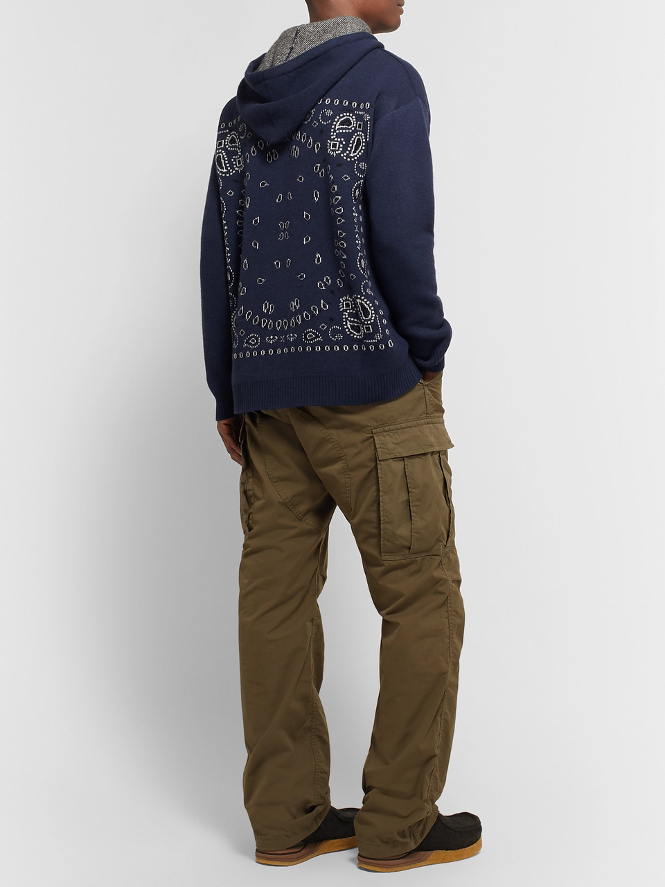 Alanui Intarsia Wool and Cashmere-Blend Hoodie