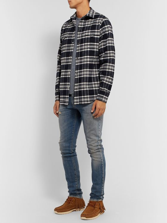 Alanui Checked Cotton-Flannel Shirt
