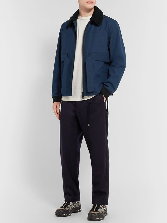 Craig Green Faux Shearling-Trimmed Cotton-Gabardine Jacket