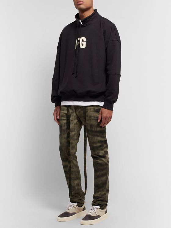 Fear of God Slim-Fit Zebra-Print Coated-Canvas Jeans