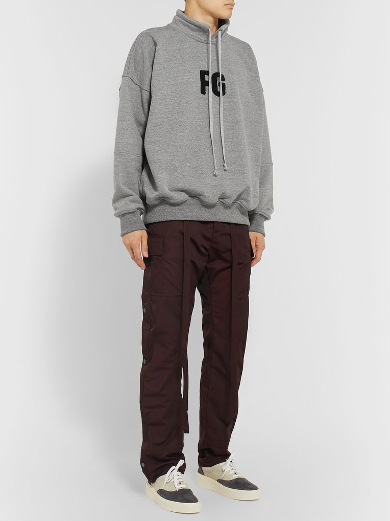 Fear of God Oversized Logo-Appliquéd Loopback Cotton-Blend Jersey Sweatshirt