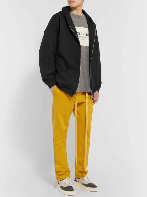 Fear of God Loopback Cotton-Jersey Zip-Up Hoodie