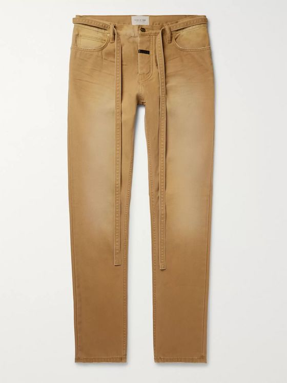 Fear of God Slim-Fit Belted Cotton-Canvas Trousers