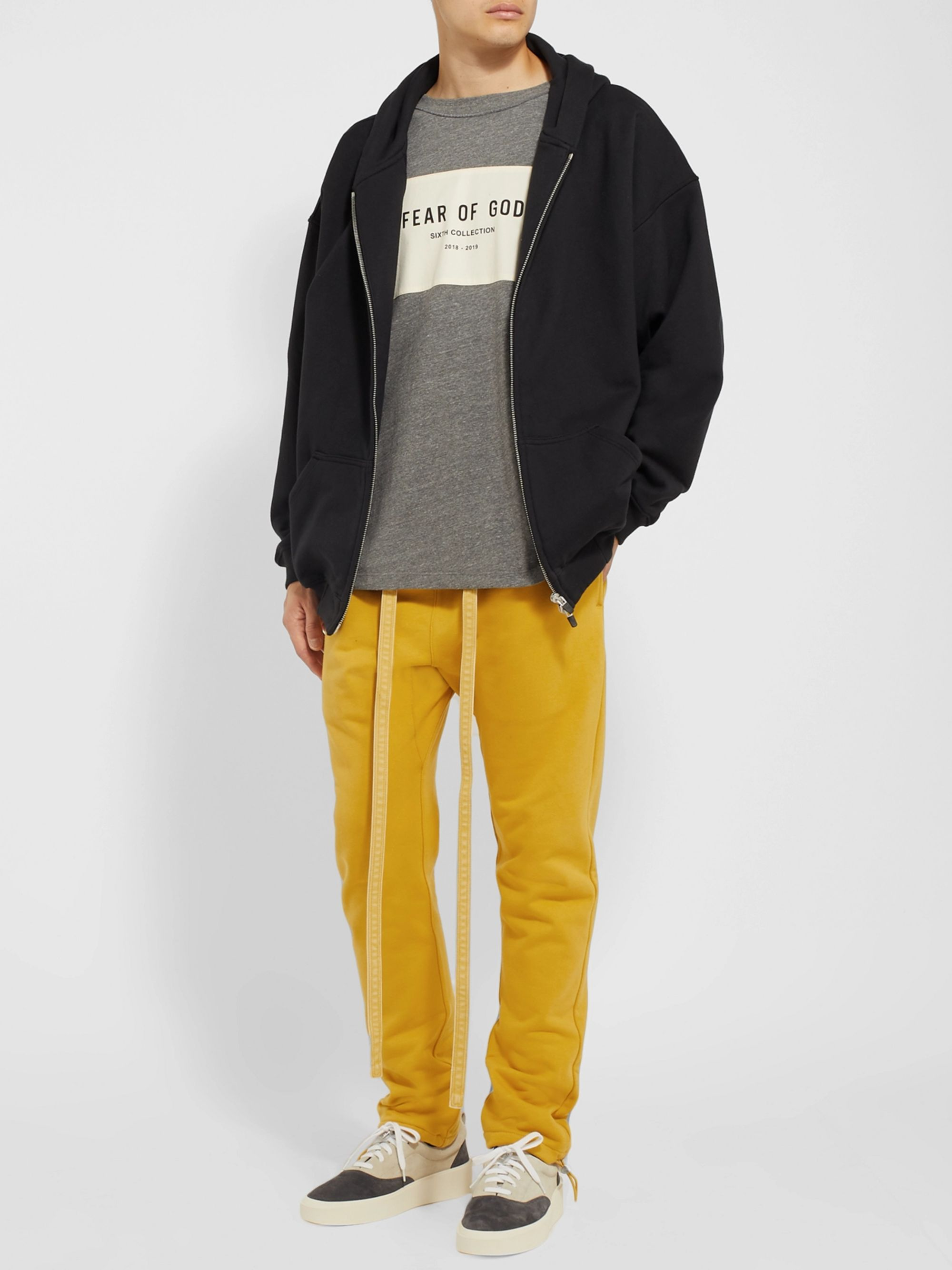 Fear of God Slim-Fit Tapered Mélange Loopback Cotton-Blend Jersey Sweatpants