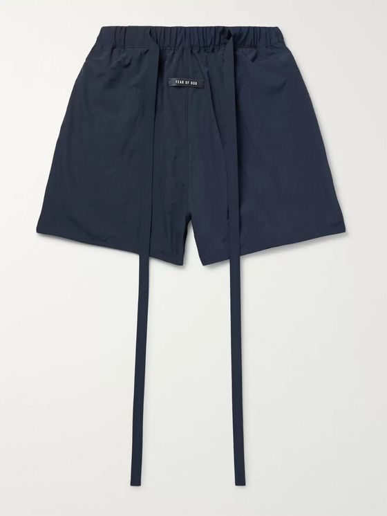 Fear of God Wide-Leg Nylon Drawstring Shorts