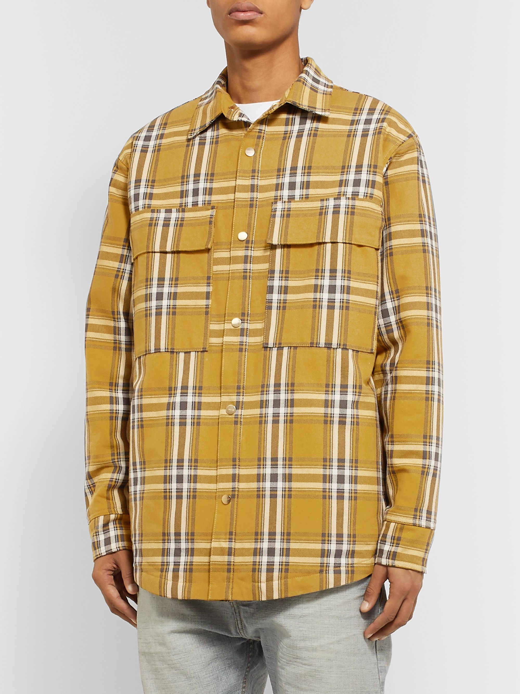 Fear of God Oversized Checked Cotton PrimaLoft Overshirt