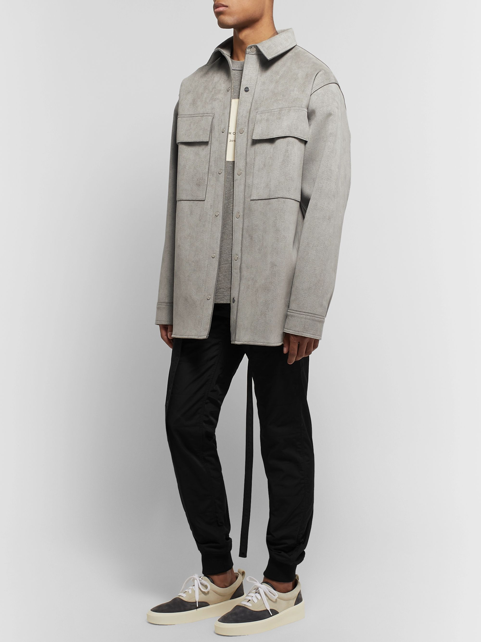 Fear of God Oversized Faux Suede Shirt Jacket