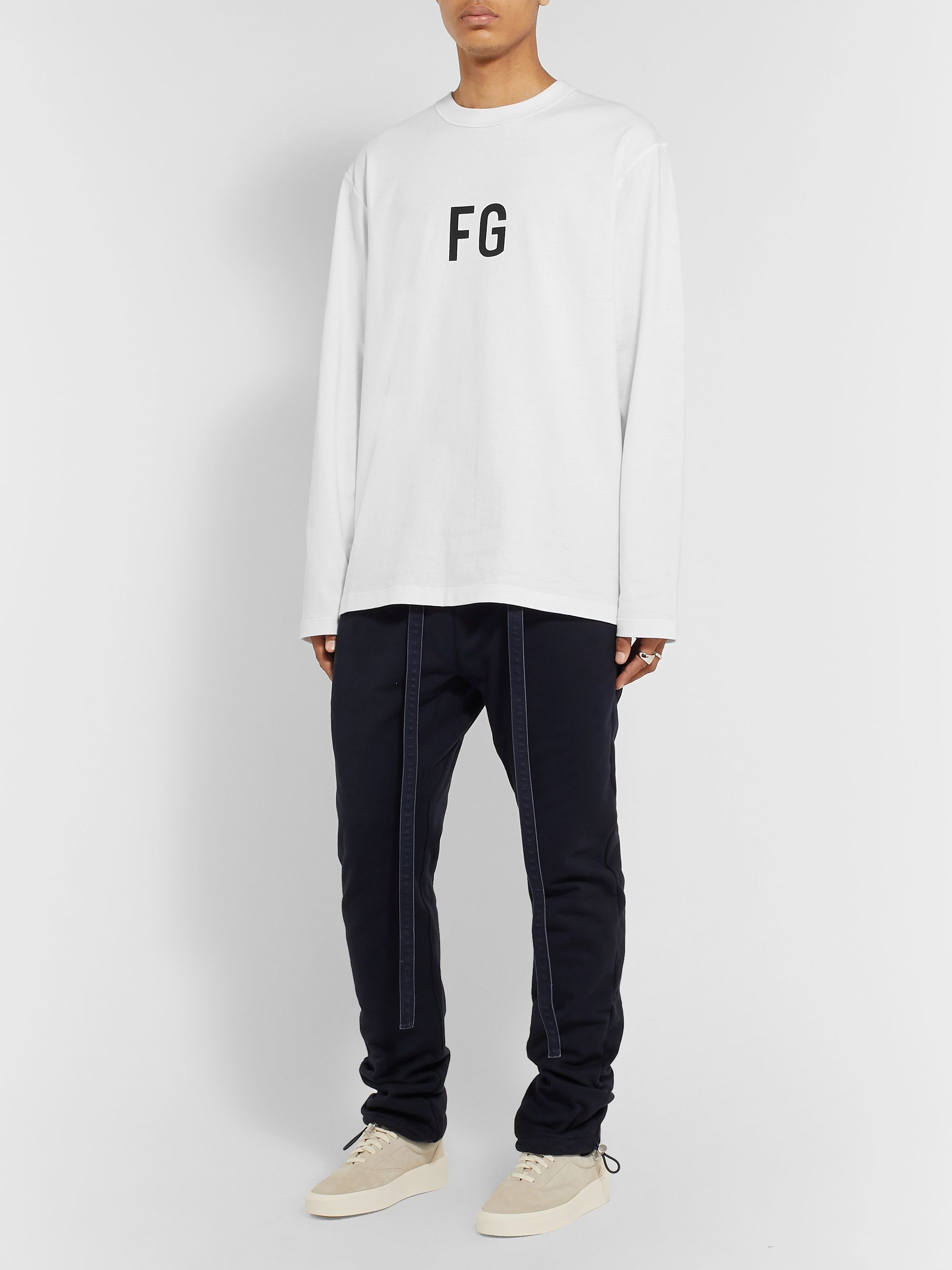 Fear of God Logo-Print Cotton-Jersey T-Shirt