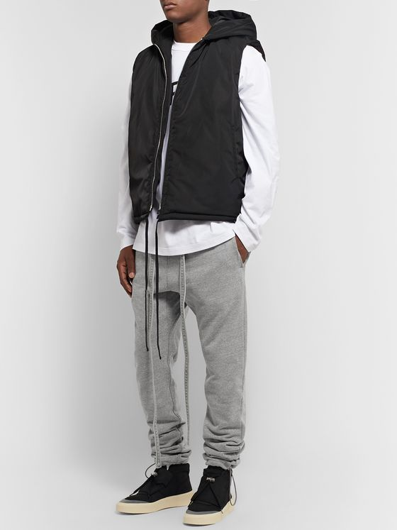 Fear of God Slim-Fit Belted Loopback Cotton-Jersey Sweatpants