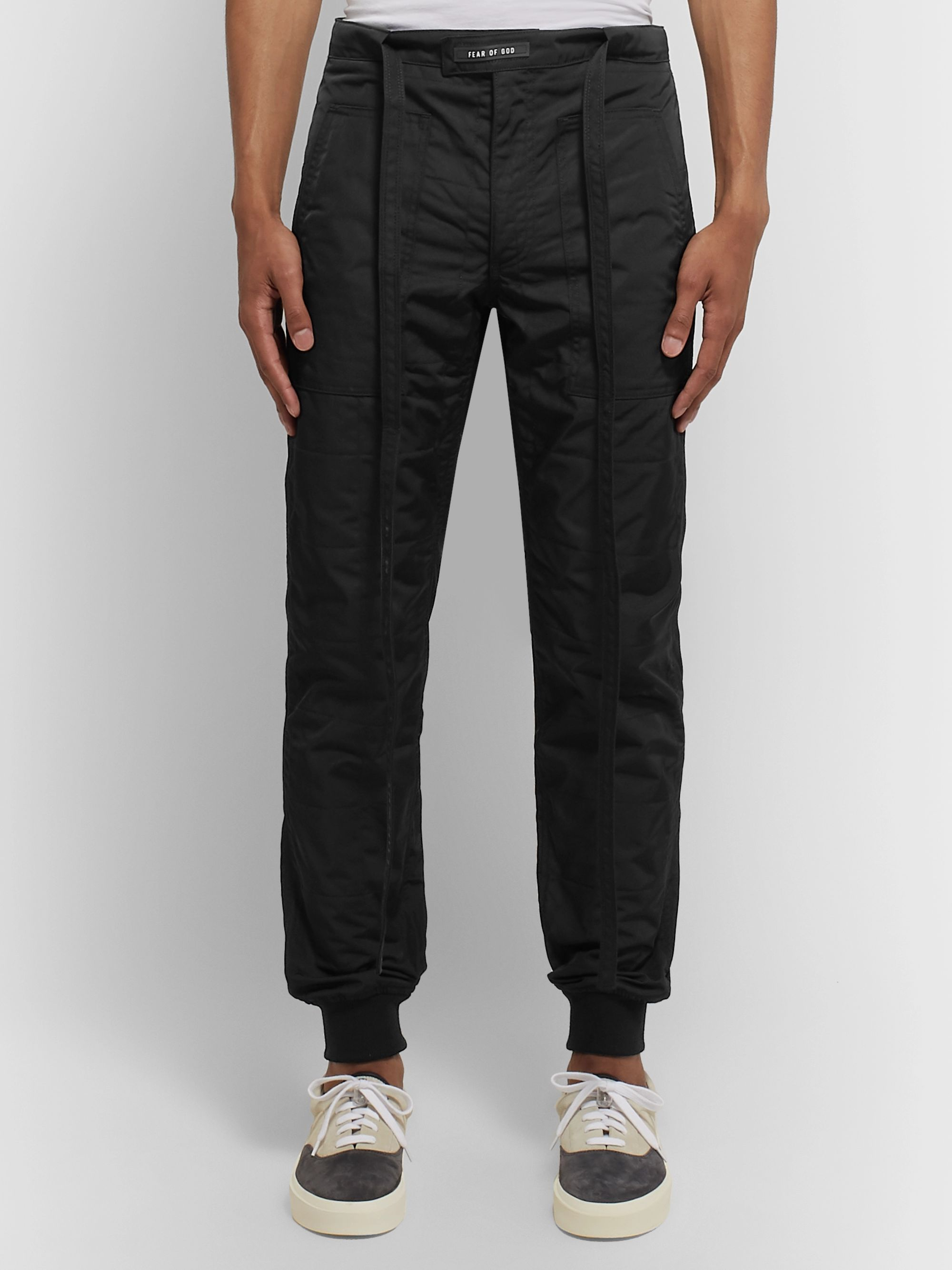 Fear of God Tapered Belted Quilted Nylon Trousers