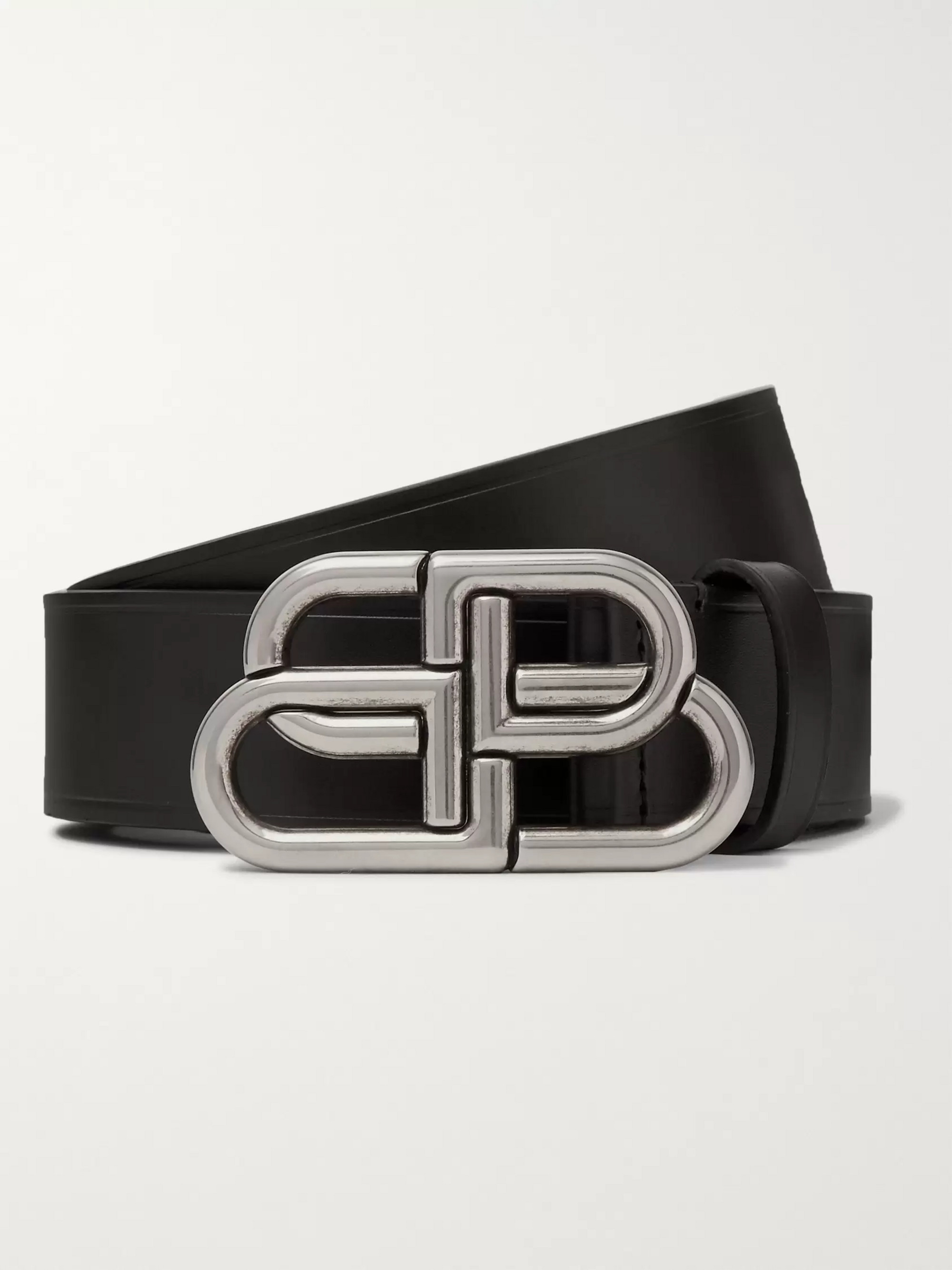 Balenciaga 3cm Black Leather Belt