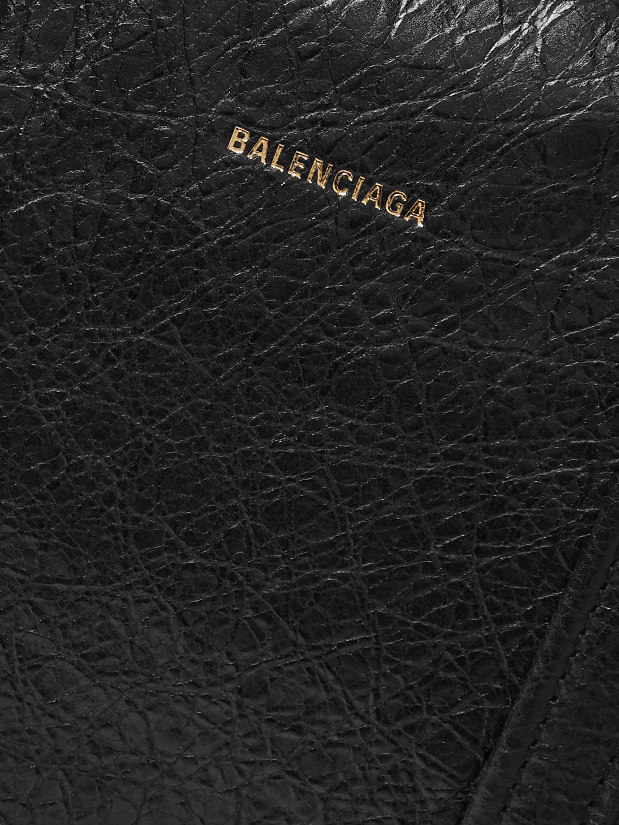 Black Creased-leather Tote Bag | Balenciaga