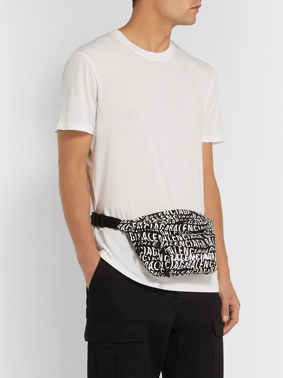 Balenciaga Logo-Print Canvas Belt Bag