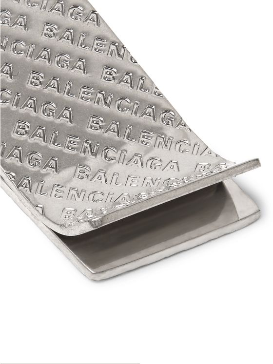 Balenciaga Logo-Engraved Palladium-Plated Money Clip