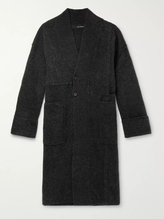 Isabel Benenato Oversized Merino Wool-Blend Coat