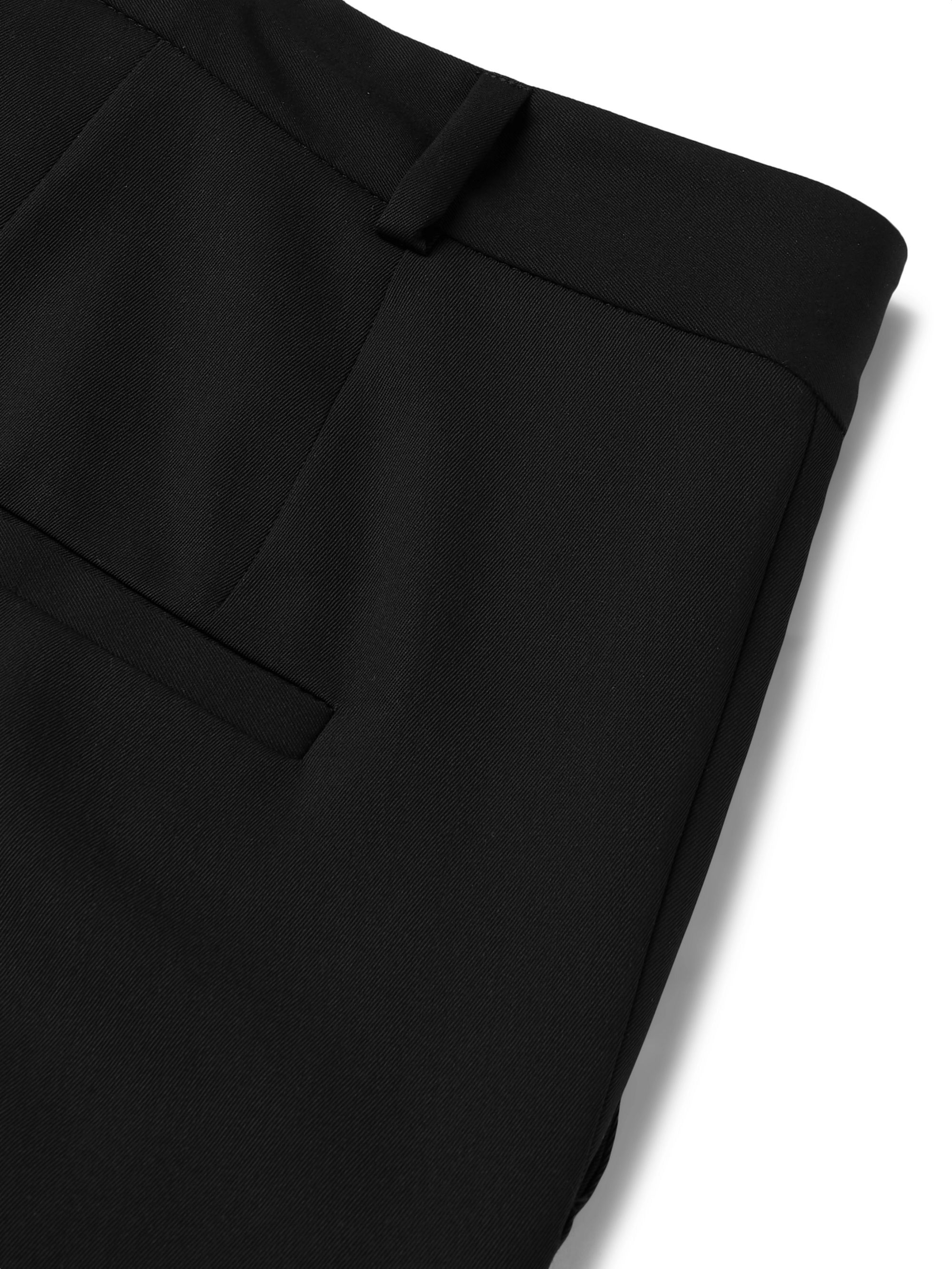 Isabel Benenato Black Virgin Wool Trousers