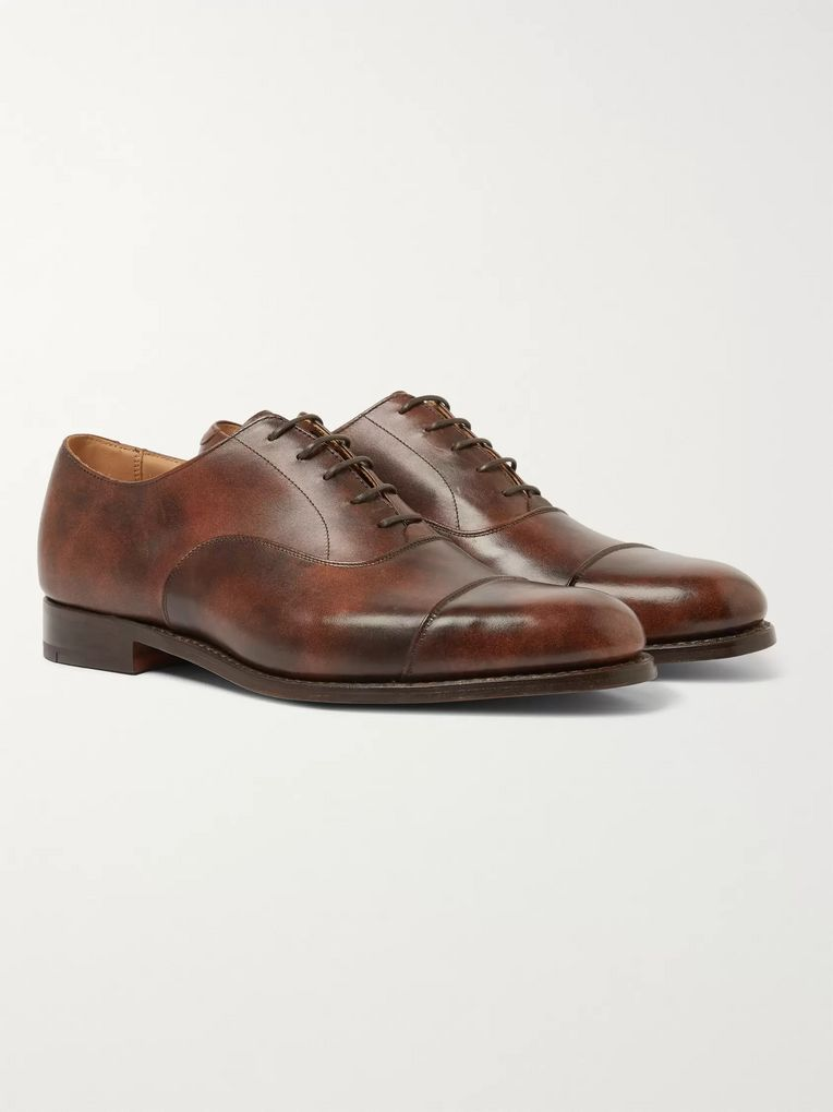 Tricker's Appleton Leather Oxford Shoes