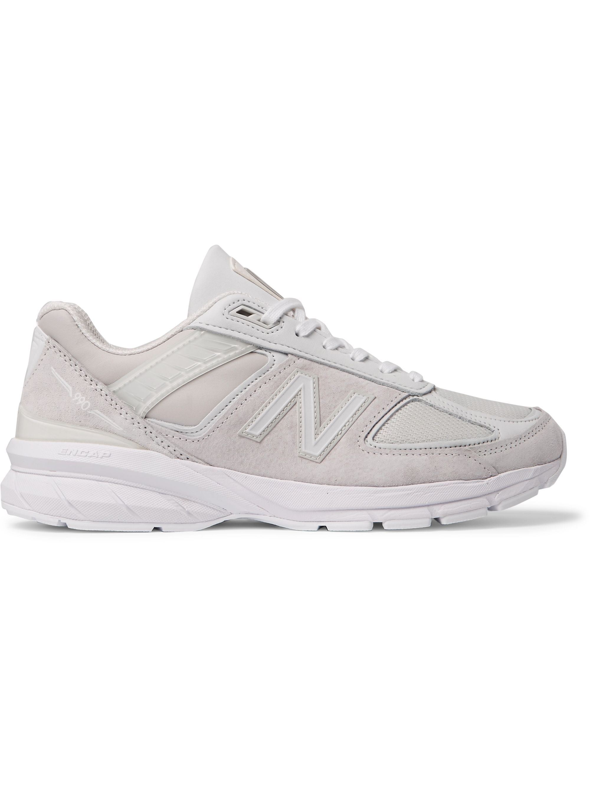 Junya Watanabe + New Balance 990 V5 Suede and Mesh Sneakers